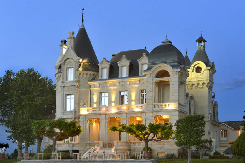 As the Night Starts Falling at Château Grand Barrail