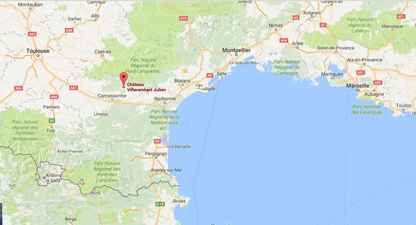 Château Villerambert Location Map