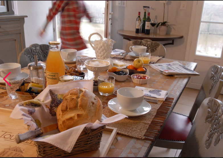 Our Breakfast in The Château