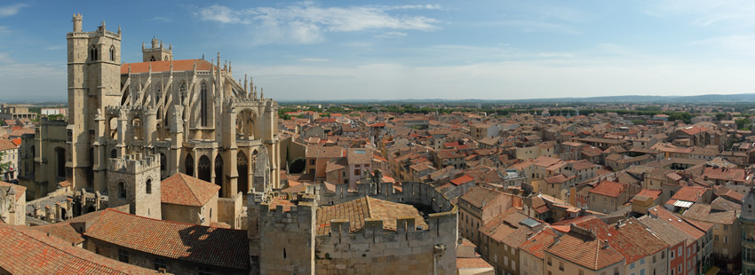 The Cathedral of Narbonne and a View of the City